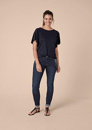 Curvy Extra Slim: Jeans mit Pailletten