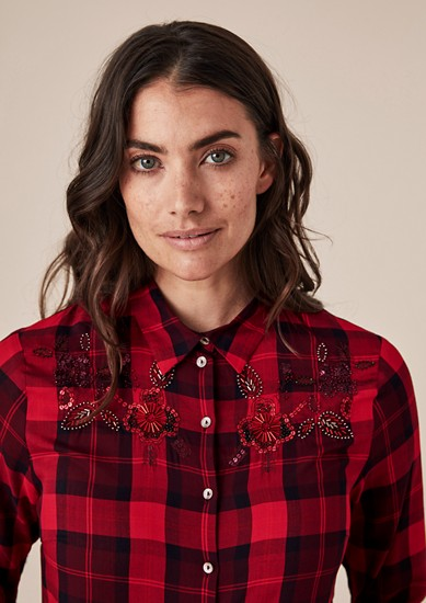 Viscose blouse met artwork