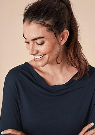 Viscose shirt met inside-out bies