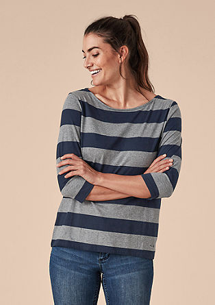 Jersey shirt met blokstrepen