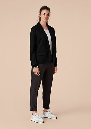 Blazer with striped cuffs from s.Oliver