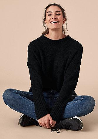 Lässiger Pullover mit Wolle