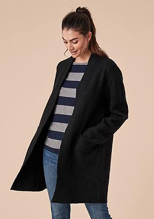 Lehký vlněný kabát splstěným vzhledem