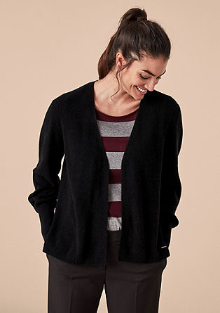 Casual rib knit cardigan from s.Oliver
