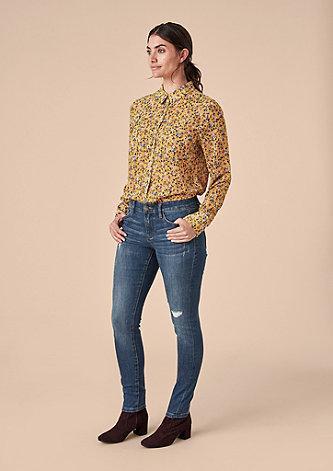 Curvy Extra Slim: Jeans mit Destroyes