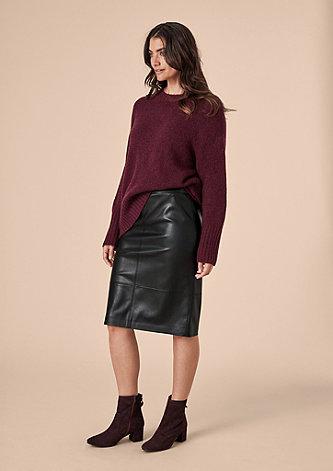 Pencil Skirt aus Kunstleder