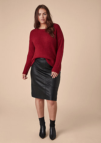 Pencil Skirt aus Kunstleder