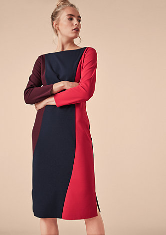 Kleid mit Colour Blocking