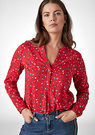 Blouse with leopard pattern from s.Oliver