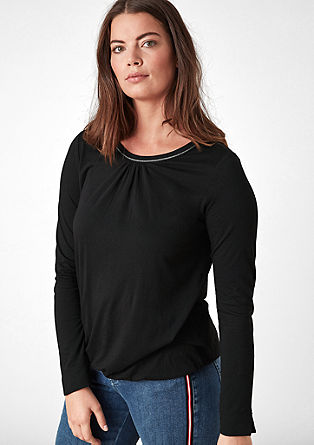 Long sleeve top with lurex piping from s.Oliver