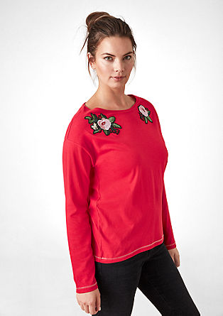 Long sleeve top with appliqué artwork from s.Oliver