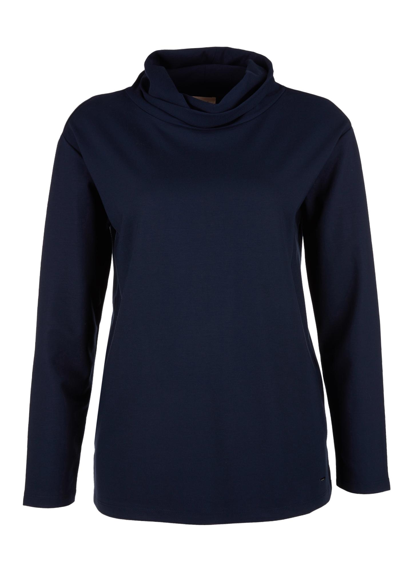 Rollkragenshirt | Bekleidung > Shirts > Rollkragenshirts | Blau | 69% viskose -  28% polyester -  3% elasthan | TRIANGLE