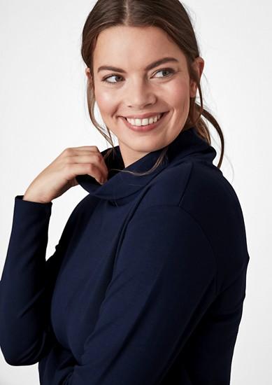 Turtleneck-Langarmshirt aus Jersey