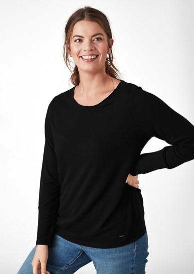 Jersey shirt met brede boorden