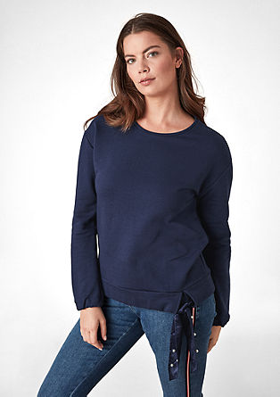 Sweatshirt with bow detail from s.Oliver