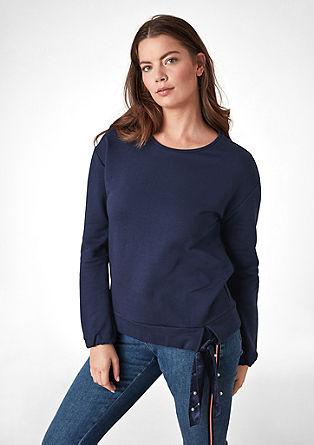 Sweatshirt met strikdetail