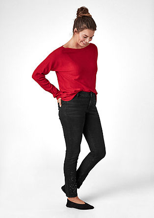 Curvy Extra Slim: embroidered jeans from s.Oliver