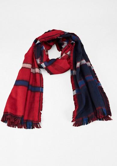 Extra zachte sjaal met een geweven motief