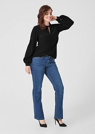 Crinkle blouse with wide sleeves from s.Oliver