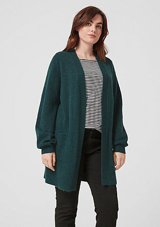 Long cardigan with alpaca wool from s.Oliver