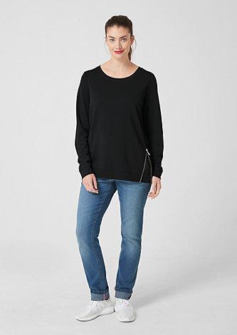 Sweatshirt mit Zipper-Detail