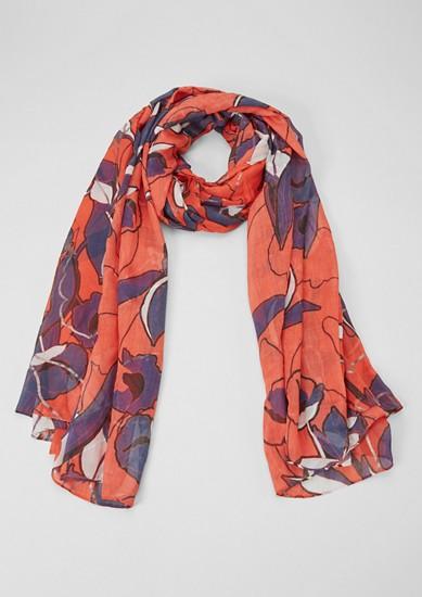 Geweven sjaal met motiefprint