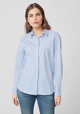 Blouse with pleated cuffs from s.Oliver