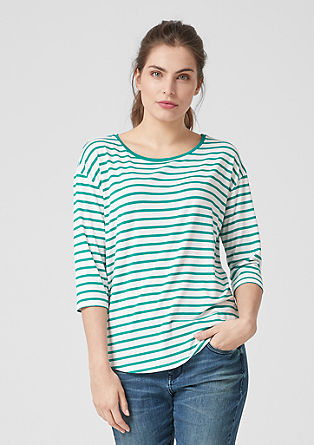 Striped top with 3/4-length sleeves from s.Oliver