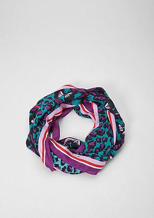 Loop-Schal im Mustermix-Design