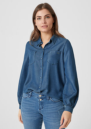 Lyocell denim blouse from s.Oliver