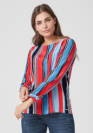 Crêpe blouse with stripes from s.Oliver