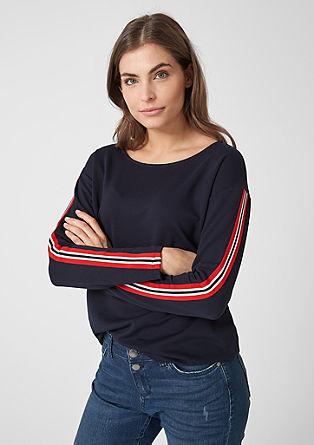 Interlock-Sweater mit sportivem Tape