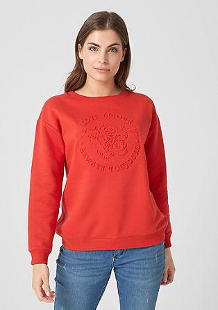 Oversized Sweatshirt mit Präge-Print