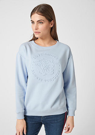 Oversized sweatshirt with an embossed print from s.Oliver