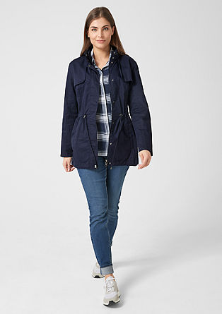 Lightweight short cotton parka from s.Oliver