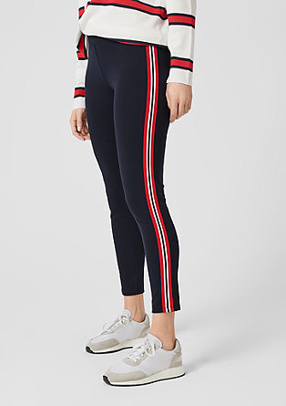 Leggings with contrasting stripes from s.Oliver