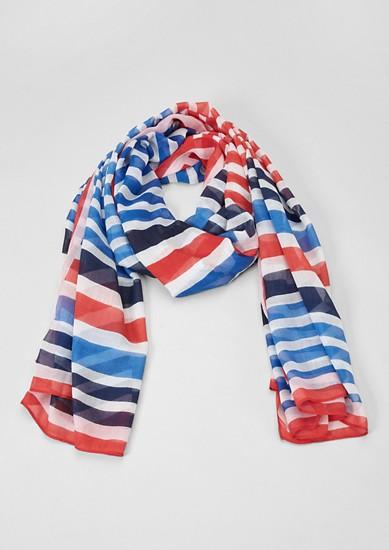 Luchtige sjaal in strepenlook