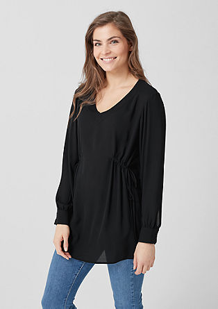 Crêpe blouse met rimpeling