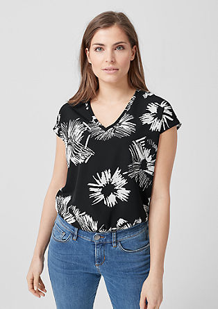 Blouseachtig shirt met print all-over