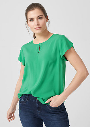 Blouse with layered sleeves from s.Oliver