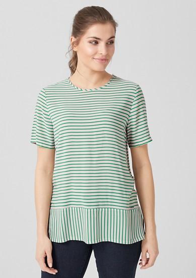 Bluse mit farbigen Streifen