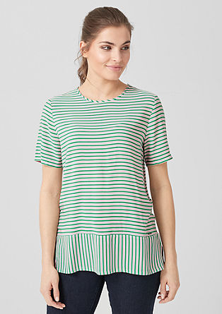 Blouse with colourful stripes from s.Oliver