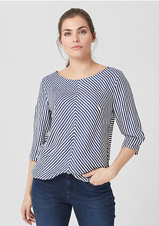 Striped blouse with elasticated waistband from s.Oliver