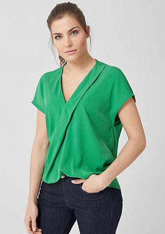 Blusenshirt mit eleganter Dekofalte