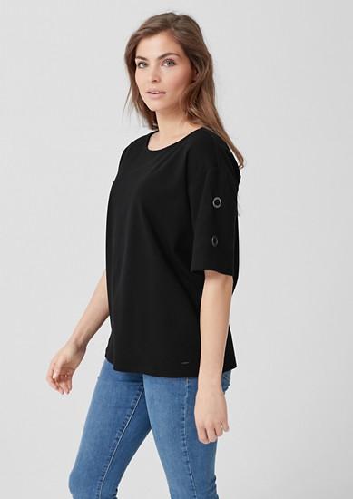 Interlock-Shirt mit Zierknöpfen
