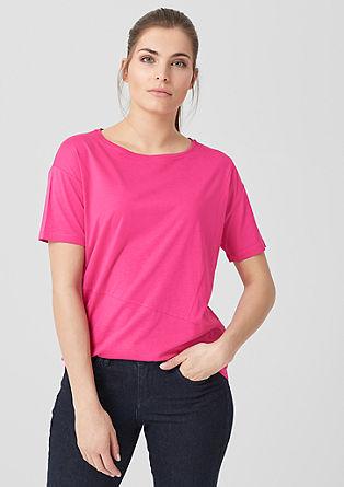 T-shirt met siernaden
