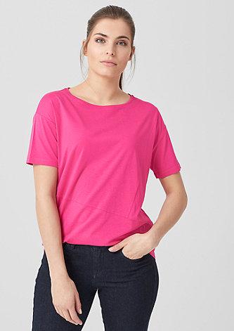 T-Shirt mit Deko-Nähten
