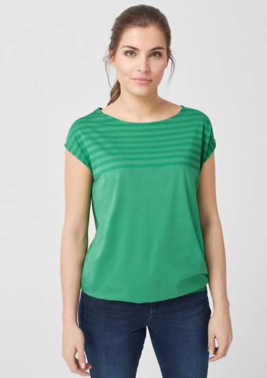 Jersey top with stripe details from s.Oliver