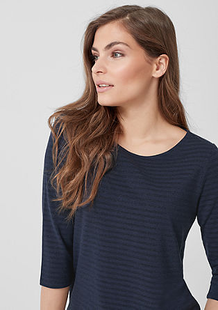 3/4-sleeve top with glitter stripes from s.Oliver
