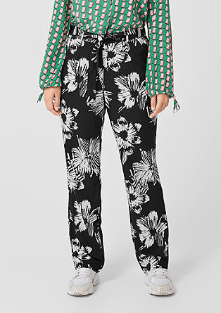 Cloth trousers with a printed pattern from s.Oliver